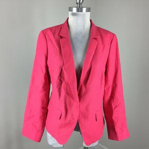 Talbots L 12 Pink Linen Blazer Jacket Excellent